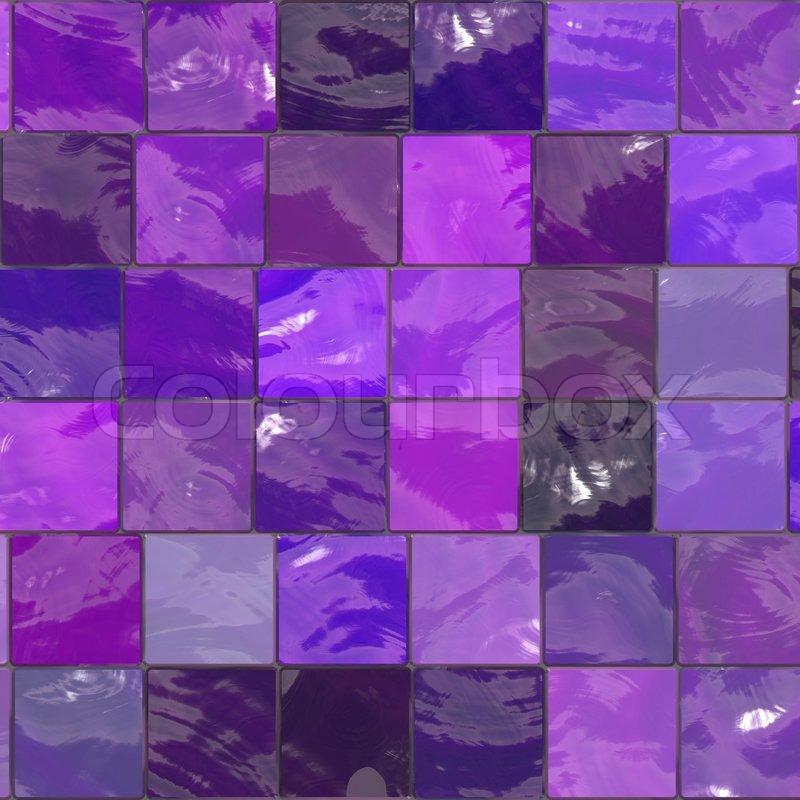 Purple Bathroom Mosaic Tiles Texture Stock Photo Colourbox