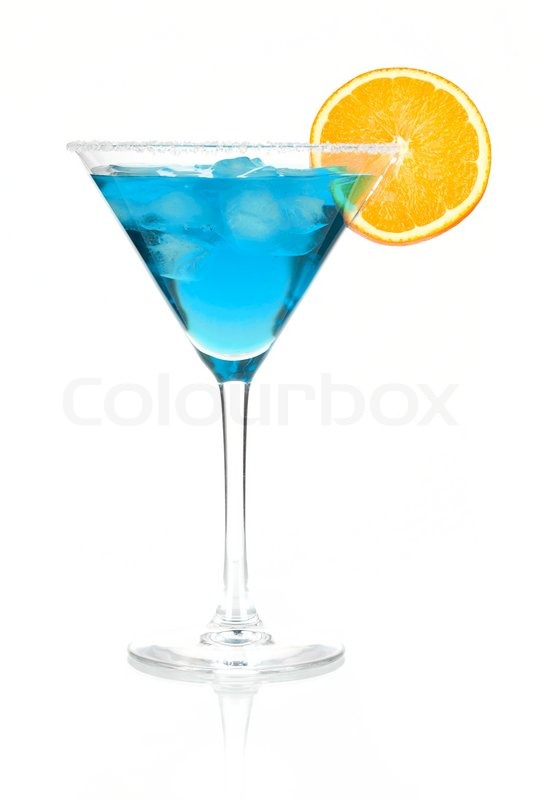 Cocktail collection blue martini with orange slice for Orange and blue cocktails