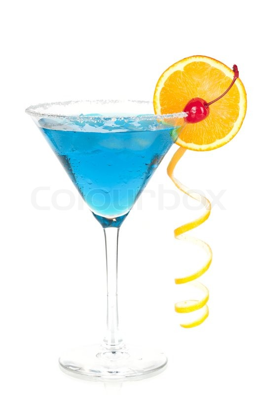 Cocktail collection blue martini with orange and for Orange and blue cocktails