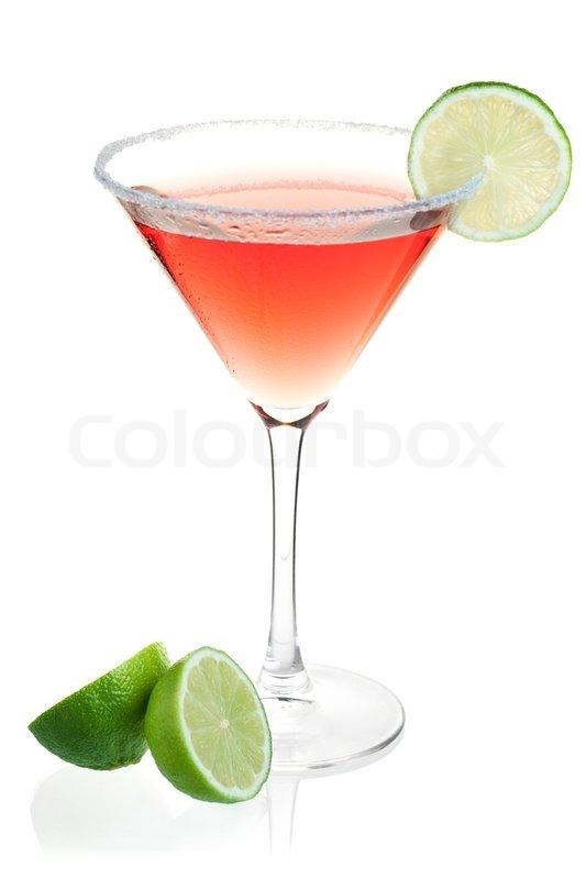 Cosmopolitan cocktail  Cocktail Sammlung - Cosmopolitan Alkohol Cocktail auf weißem ...