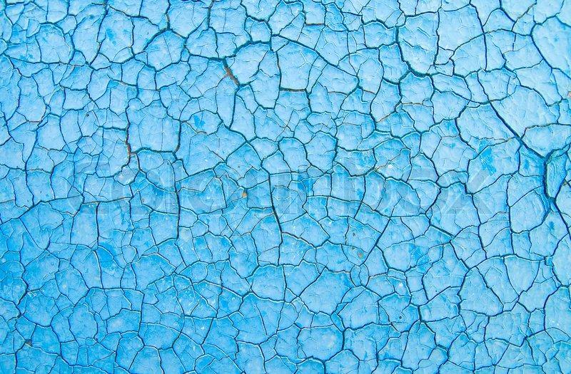 Blau geknackt zu malen, wie guter Hintergrund  Stock-Foto ...