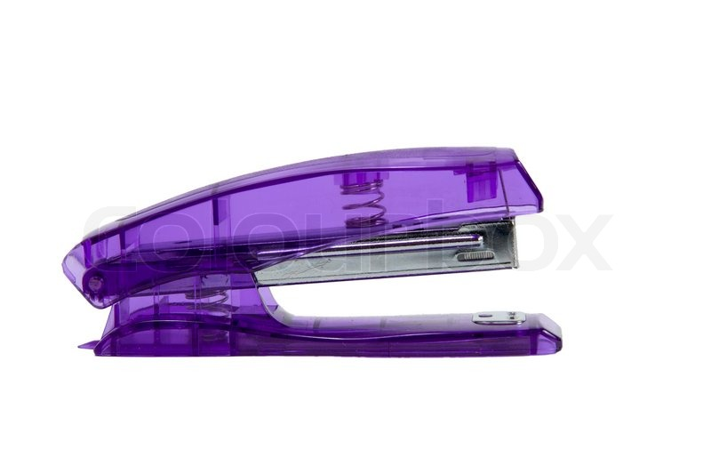 Office stapler close up on a white background | Stock Photo | Colourbox