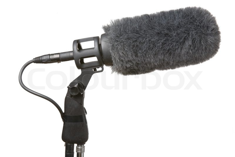 microphone used in tv and film production stock photo