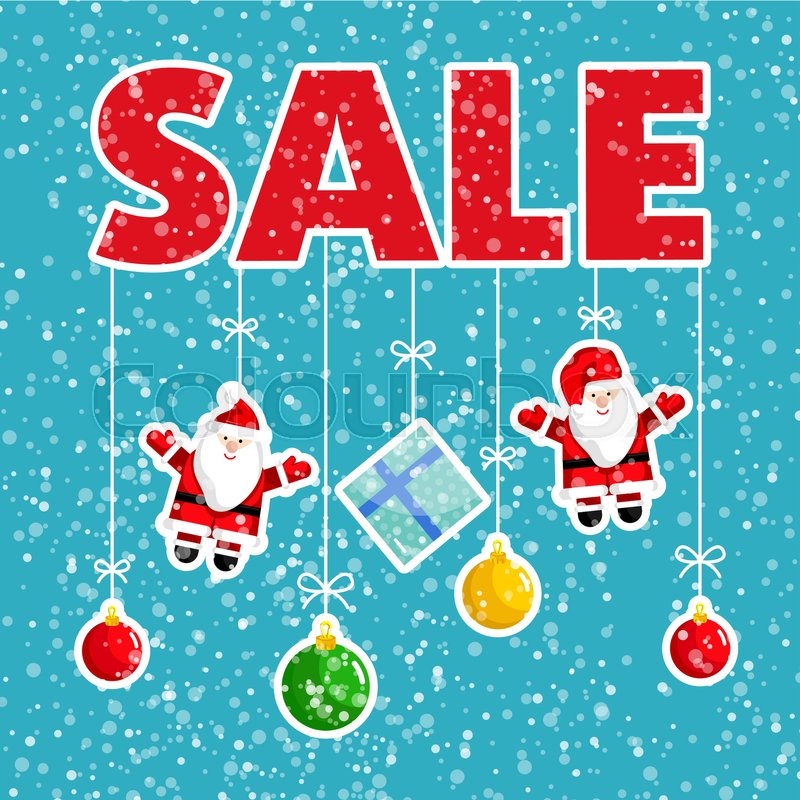 b6c6cc304af0 Christmas sale poster. Colorful ...