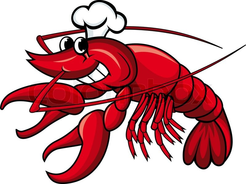 smiling red crayfish or shrimp isolated on white stock Cartoon Shrimp Clip Art Cute Shrimp Clip Art