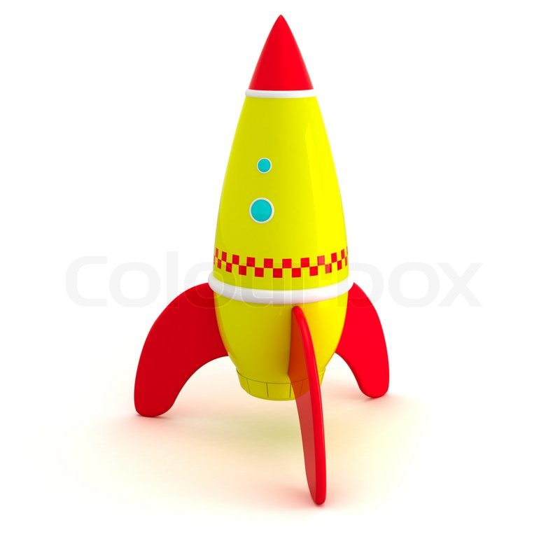 Best Spaceship Rockets Toys For Kids : Toy rocket isolated on the white background stock photo