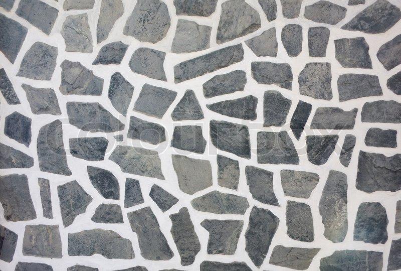 Stock Bild Von U0027Stein Mosaik Wand Aus Natürlichen Dranite / Marmoru0027