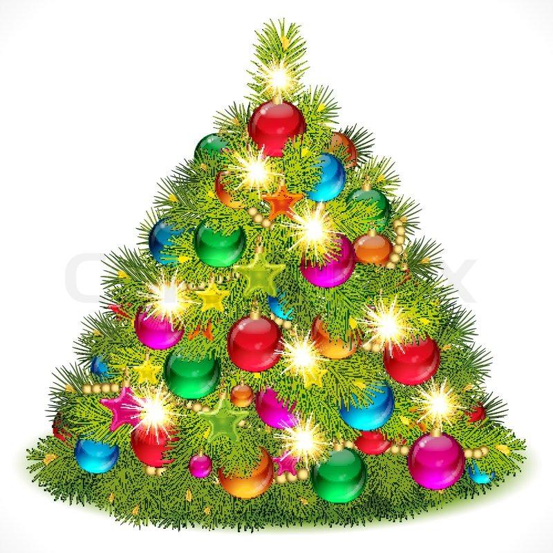 Lush christmas tree vektorgrafik colourbox