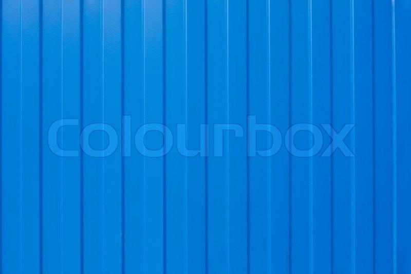 Blue Corrugated Iron Fence Texture Stock Photo Colourbox