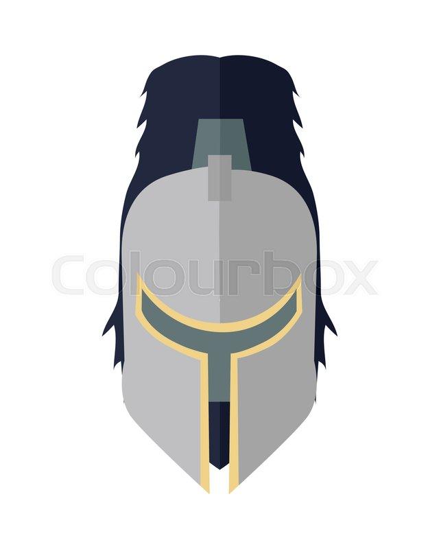 steel knight s helmet in flat cartoon medieval helmet armor of