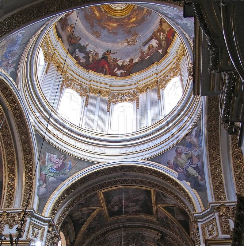 Basic Dome Home S Interior Plans: Dome And Interior Of Maltese Church