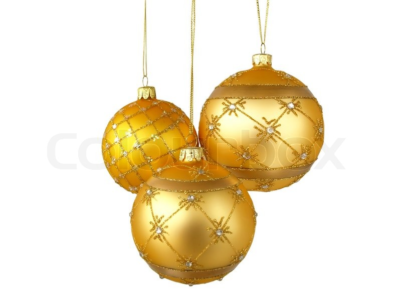 Christmas Tree Ornaments Hanging On Stock Image Colourbox