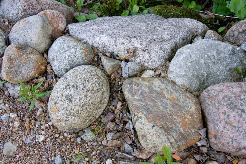 Stones In The Garden Gpoup of stones in the garden stock photo colourbox workwithnaturefo
