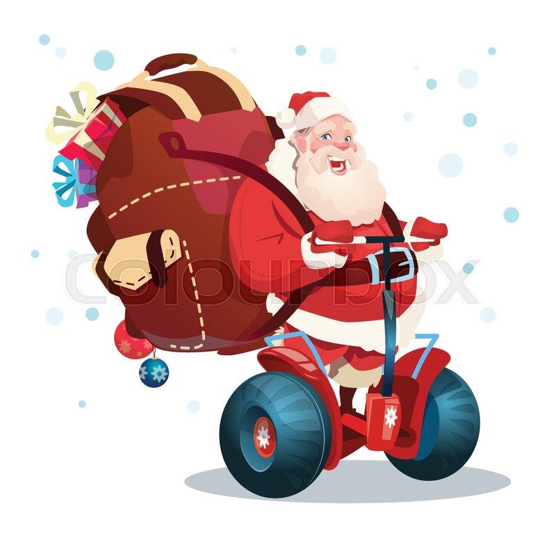 22930956-santa-claus-ride-electric-scoot