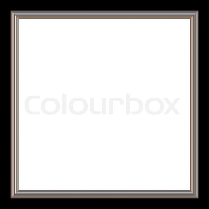 Silber und schwarzes Quadrat Bilderrahmen und weißem copyspace ...