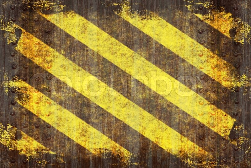 A Hazard Stripes Texture With Extreme Grunge Effects
