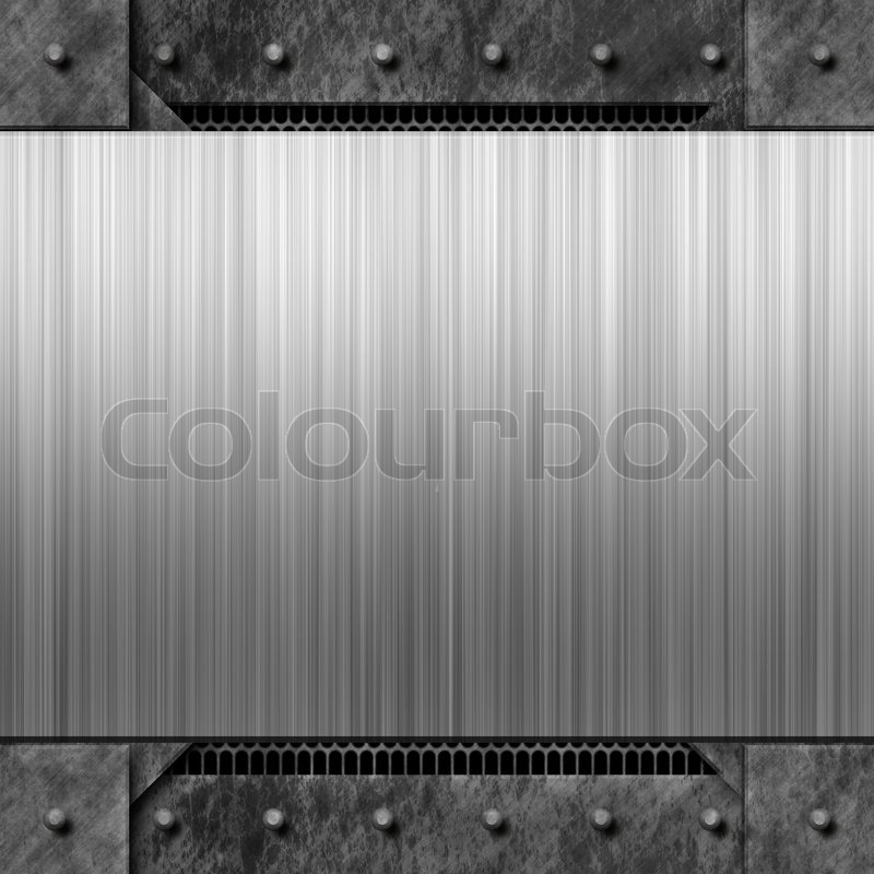 Worn diamond plate metal texture with a brushed aluminum plate brushed metal background texture with rivetsmakes a great layout or business card template colourmoves