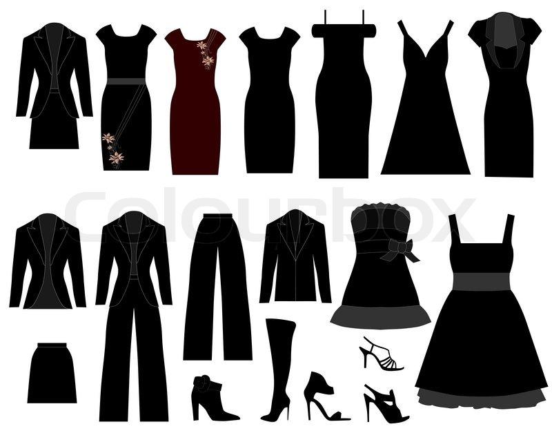clothes stock vector colourbox