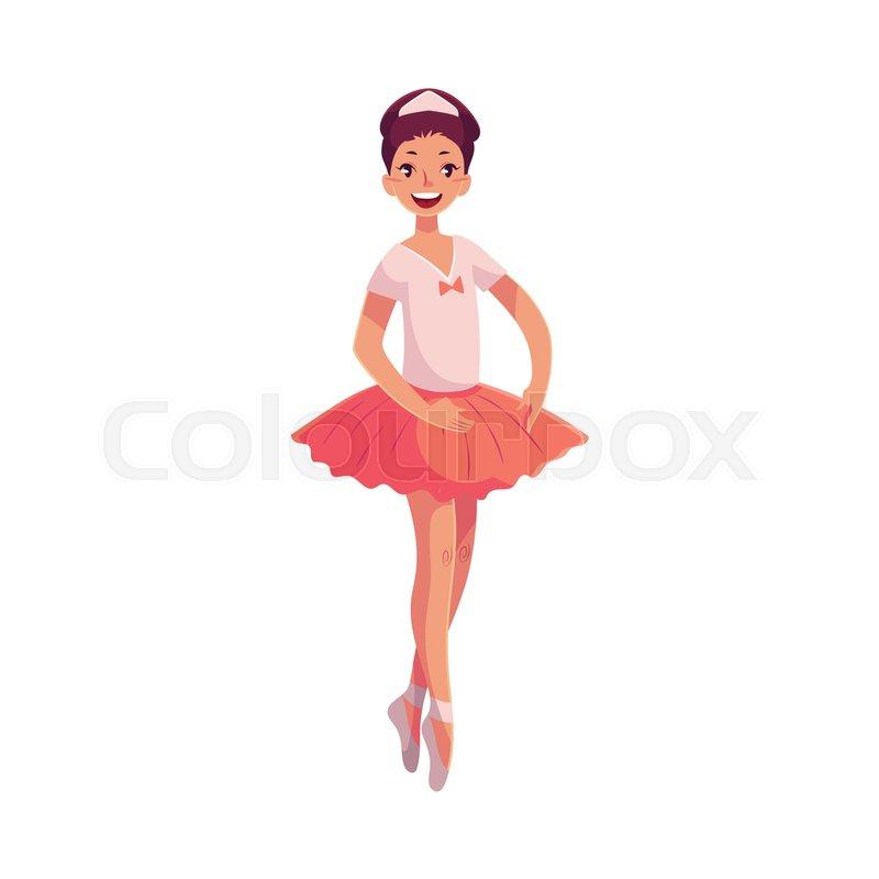 2ca0135f5e552 Pretty young ballerina in pink tutu ... | Stock vector | Colourbox