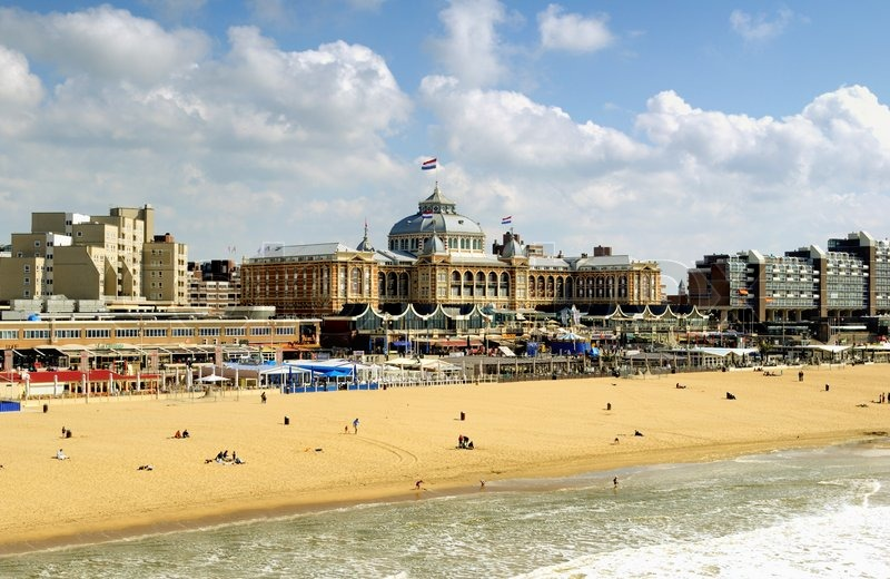 dutch beach resort with famous kurhaus hotel netherlands den haag stock photo colourbox. Black Bedroom Furniture Sets. Home Design Ideas