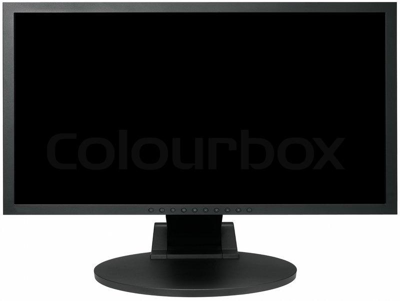 computer med skærm