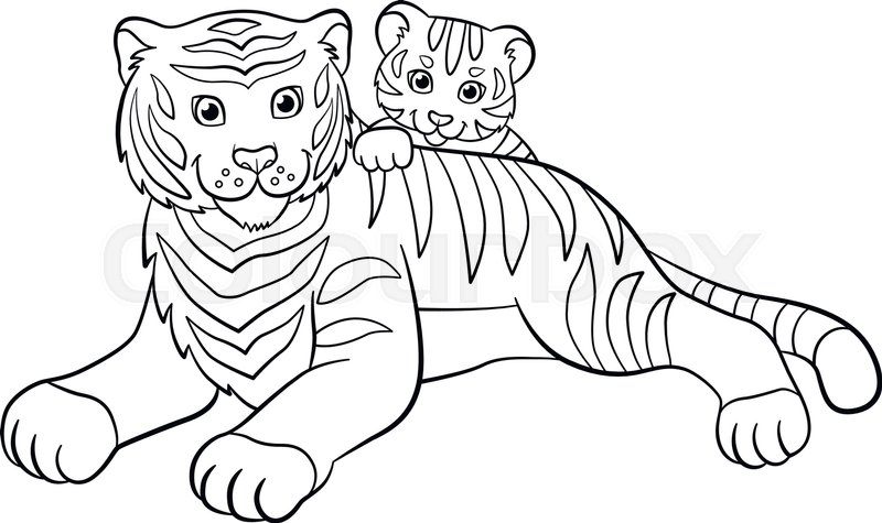 820 Coloring Pages Of Cute Baby Tigers Images & Pictures In HD