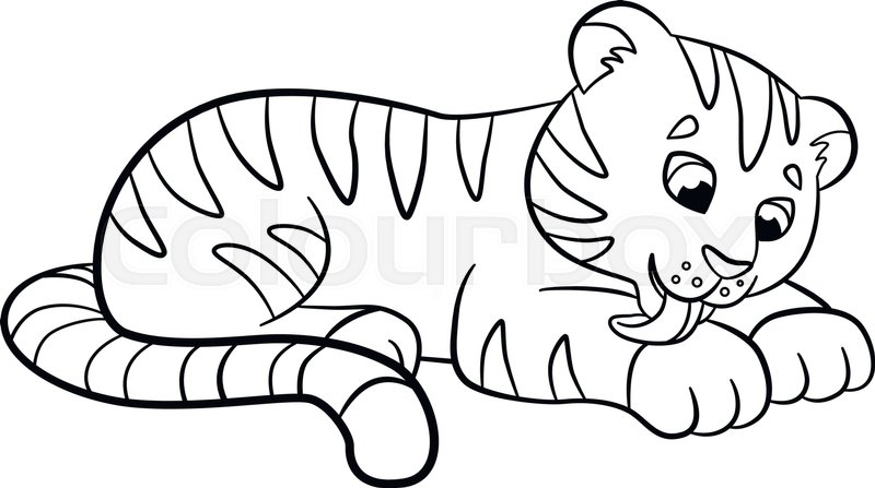 Cute Tiger Coloring Pages - Kids Coloring Pages | Printable and ... | 447x800