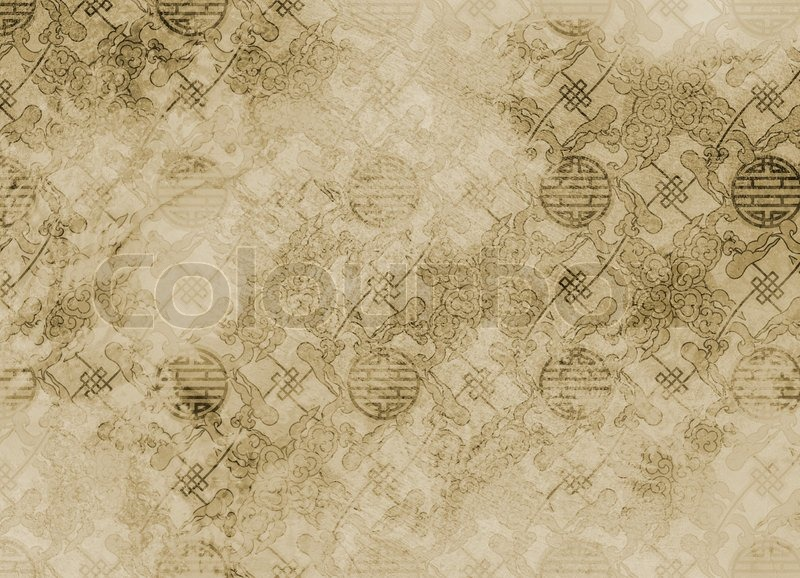 Chinese Textured Pattern In Filigree For Background Or Wallpaper