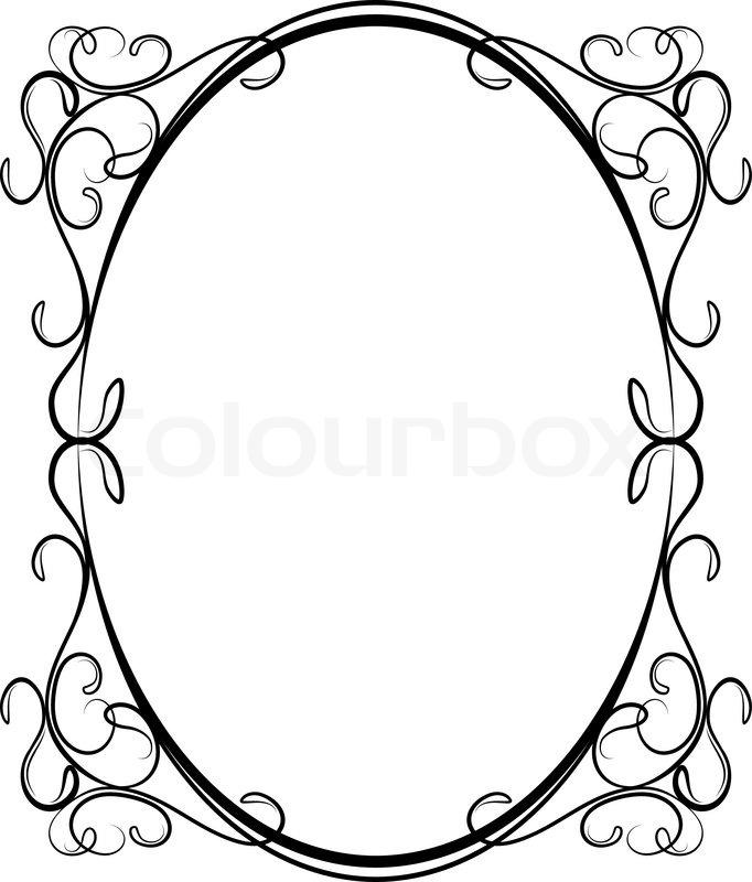 oval frame design. \ Oval Frame Design
