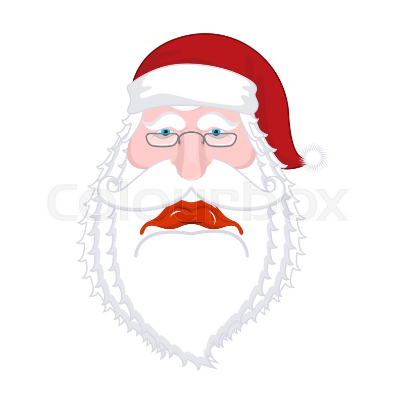 Sad santa claus dull christmas grandfather sorrowful santa with sad santa claus dull christmas grandfather sorrowful santa with beard in red cap illustration for new year xmas template design stock vector maxwellsz