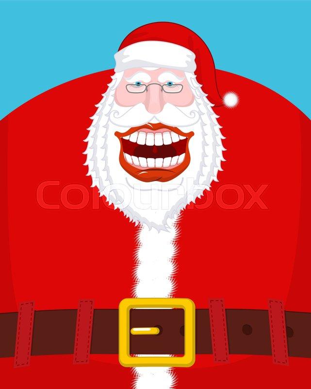 ed348214d9b49 Chortle Santa Claus. Broad smile. ...