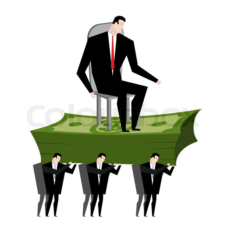 Stock Vector Of Managers Carry Boss Workers Are Head Office Clerk Carrying Chief