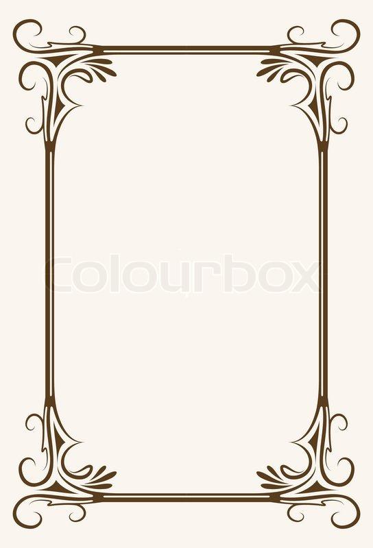 vintage frame design png. Frame. Exellent Frame Inside Colourbox Vintage Design Png