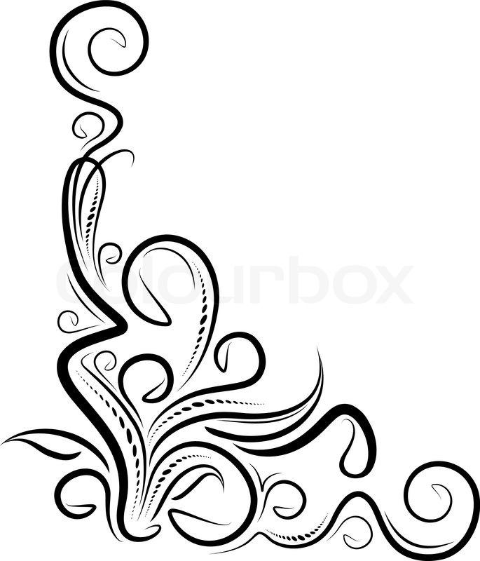 filigree border fretwork stock vector colourbox