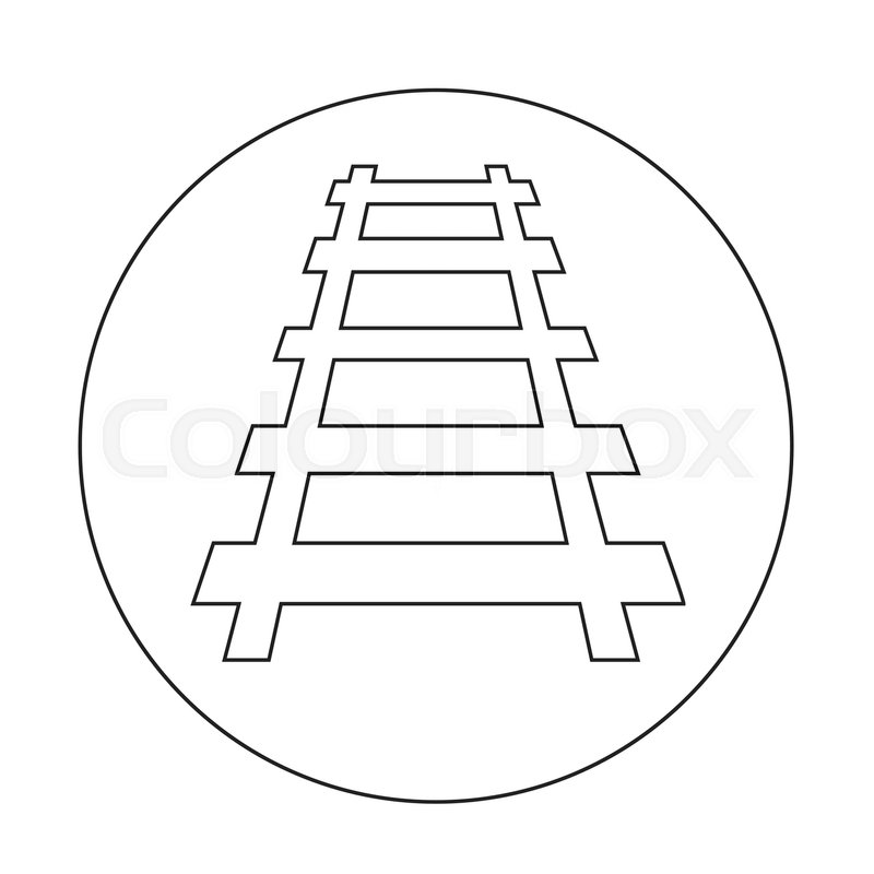 Railway track icon illustration design | Stock vector | Colourbox