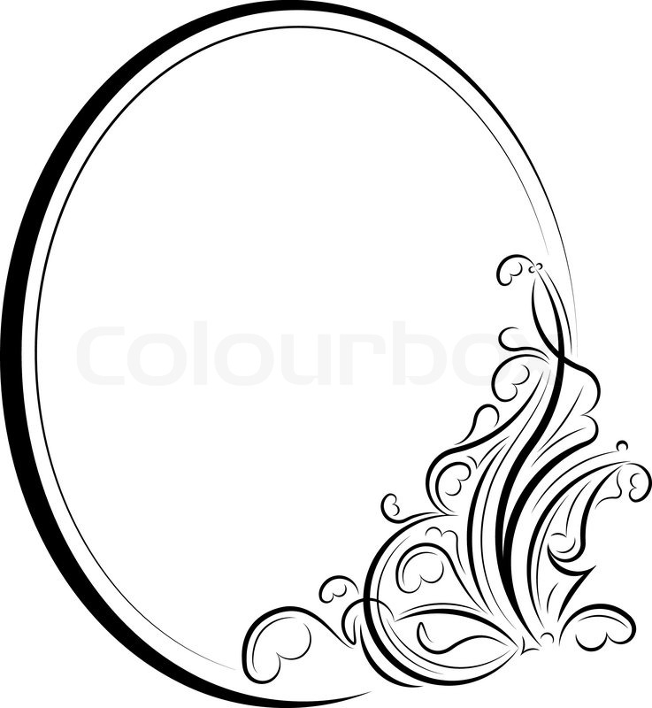 quot oval frame quot  stock vector colourbox certificate border vector cdr certificate border vector graphics