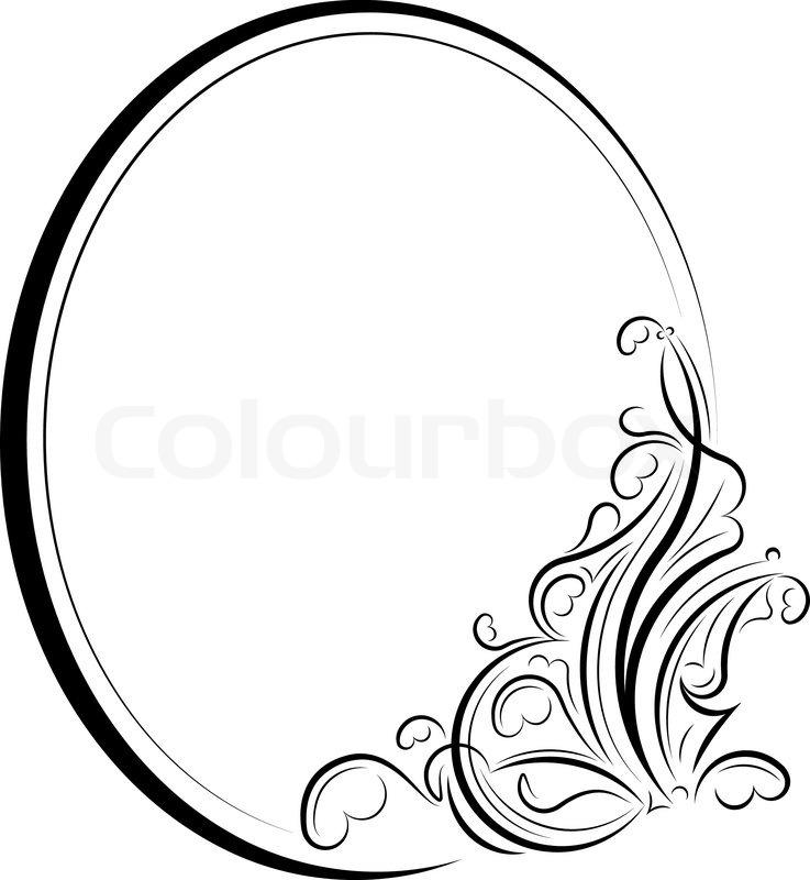 oval frame\