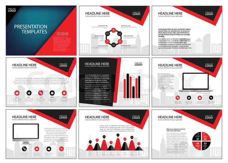 page layout design template for presentation and brochure annual