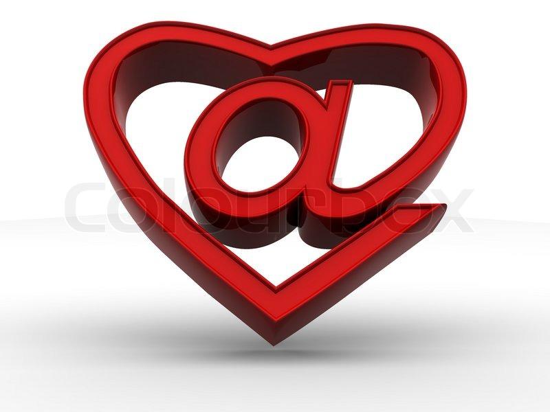 Symbol Of Internet As Heart Stock Photo Colourbox