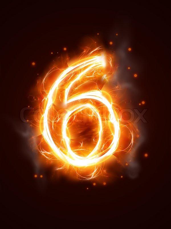 fiery number 6