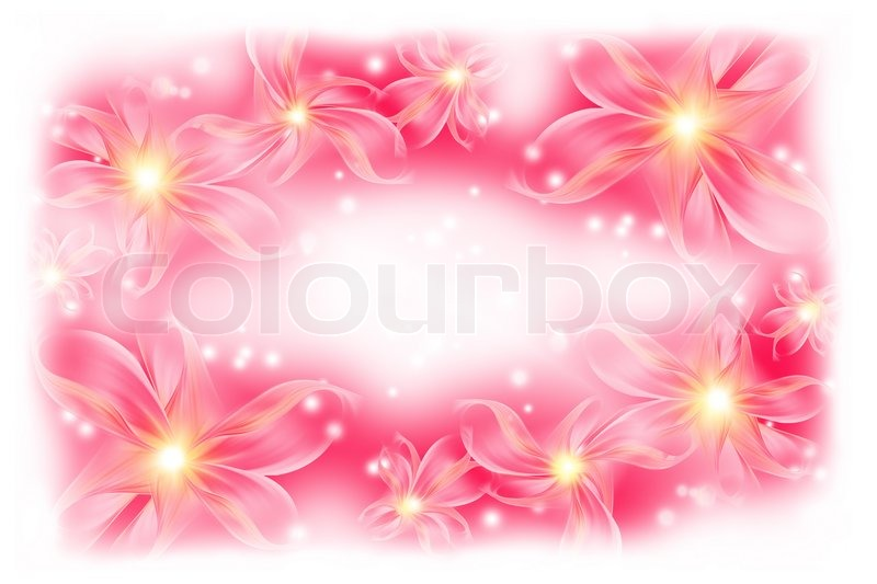 Beautiful pink background with flowers for your design stock photo beautiful pink background with flowers for your design stock photo colourbox mightylinksfo