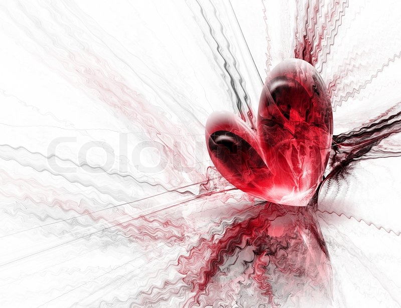 Schöne rote Herzen auf einem abstrakten Hintergrund | Stockfoto ...