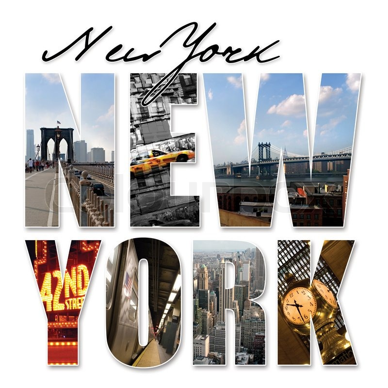 A New York City Themed Montage Or Collage Featuring Different Famous Locations And Areas Of The Big Apple