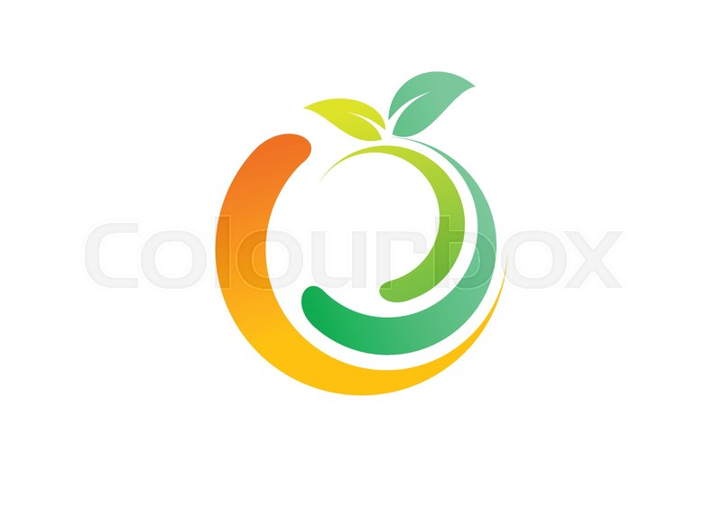 Fresh Fruit Logo Wellness Health Apple Symbol Logotype Lemon
