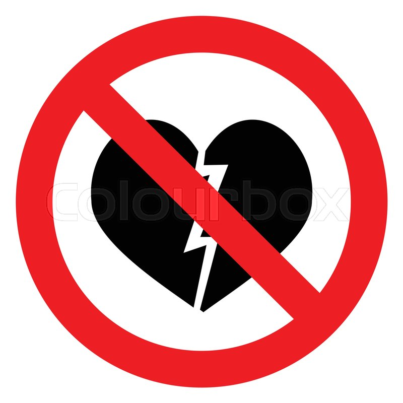Ban Broken Heart Stop Heart Break No Divorce Shattered Heart