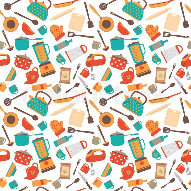 Kitchen Utensils Background: Cooking Utensils Background. Cute ...