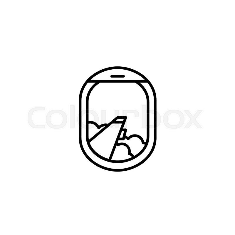 Black And White Airplane Window Icon Stock Vector Colourbox
