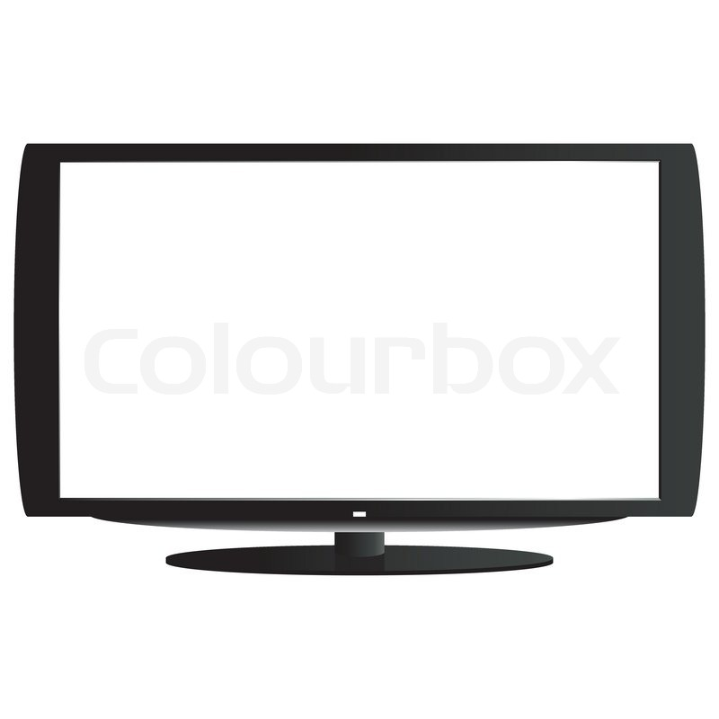 lcd tv auf wei em hintergrund vektorgrafik colourbox. Black Bedroom Furniture Sets. Home Design Ideas
