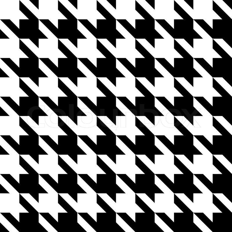 Black And White Seamless Houndstooth Stock Photo Colourbox