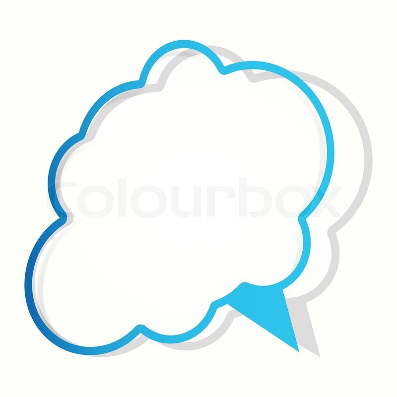 Cloud sticker in the form of an empty frame for your text vector